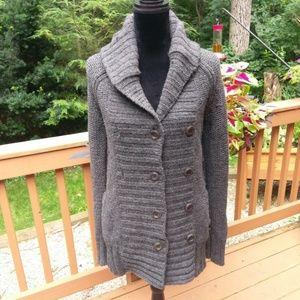 Gap cardigan sweater medium grey lambs wool